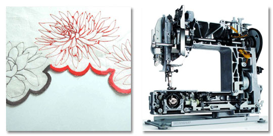 The best and most reliable sewing machine for embroidery is a simple heavy Bernina according to designer Karen Nicol