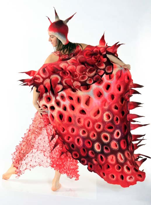 A costume by textile artist and designer Marjolein Dallinga