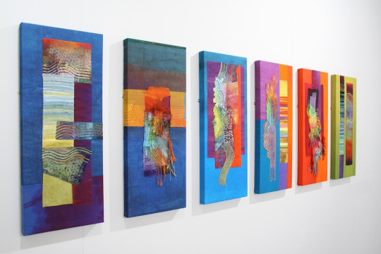 Prism group of textile artists member Ruth Issett - Discolation Relocation