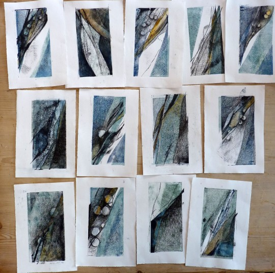 Sea Edge Drawings - Debbie Lyddon