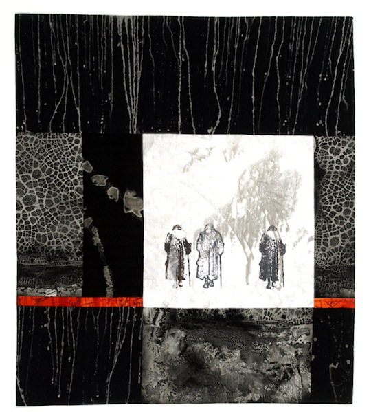 Linda Colsh is a surface designer using traditional screen printing methods and inspired by photographs of the elderly