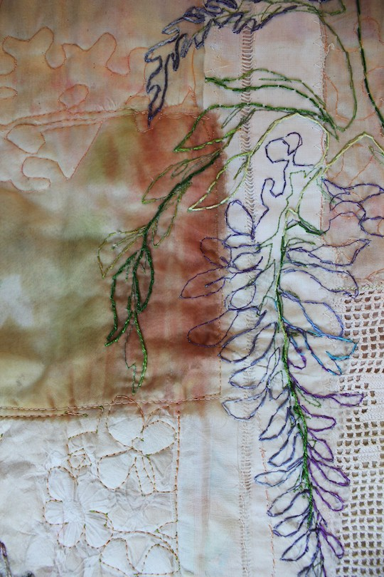 Wisteria in textiles Detail