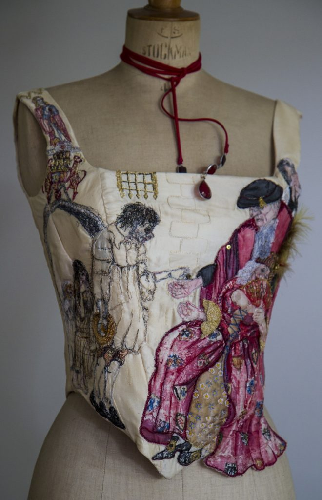 Deanna Tyson: To Those That Have Shall Be Given, 2000, 50cms x 40cms x 24cms, Tussah Wild Silk, boning with cotton lining machine embroidery, applique, silk painting